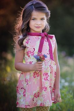 Look what I found on Pink Gwen Tunic Dress - Infant, Toddler & Girls Look what I foun Girls Clothing Brands, Kids Clothing, Clothing Stores, Boutique Clothing, Little Girl Fashion, Kids Fashion, Persnickety Clothing, Girls Dresses, Flower Girl Dresses