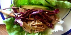Crockpot Cuban Pork Lettuce Wraps