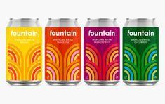 Pentagram Helps Elevate CBD Sparkling Water Brand Fountain   Dieline