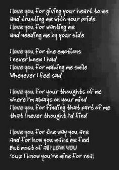 Love_Quotes_for_Him_Love Poems for Him_True-gangster-sad-love-poems New Love Quotes, Now Quotes, Quotes To Live By, Favorite Quotes, Best Quotes, Inspirational Quotes, Romantic Love Quotes For Him, I Love You Quotes For Him Boyfriend, Cute Quotes For Him