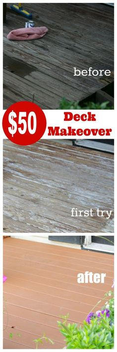 Front porch  deck makeover ~ or how to fix your mistake for only $50.00 at cupcakesandcrinoline.com