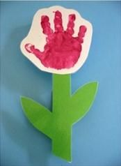 Hand Print Roses - Mother's Day Craft