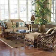 Decorating With Wicker Furniture   Hawaiian Decorating Rattan Furniture