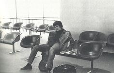 Mike at the airport, 1970