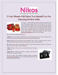 5 Last Minute Gift Ideas You Should Use For Selecting Perfect Gifts