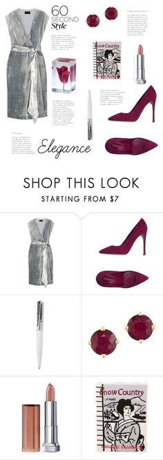 """""""60-Second Style: Elegance"""" by yosifova ❤ liked on Polyvore featuring J.Crew, Gianvito Rossi, Swarovski, Effy Jewelry, Maybelline, Olympia Le-Tan, WorkWear, contest, outfit and Elegant"""