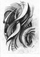 Biomech Tattoo Sketchbook by Kali