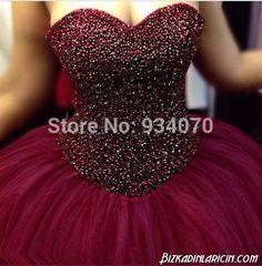 crystals Burgundy princess bridal wedding dress.ball gown wear . sweet 16 quinceanera dresses .15 years girl ,