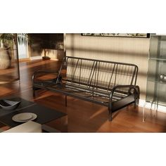 Dorel Home Products Vermont Metal Futon Frame, Black - List price: $155.99 Price: $80.99 Saving: $75.00 (48%)