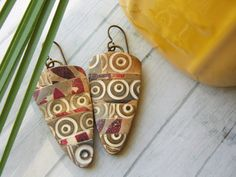 Polymer Clay Earrings Jewelry featuring a by WiredOrchidJewelry