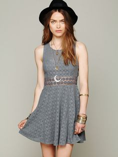 Free People Fitted With Daisies Dress, 99.16 // I want the White one!! BAD!! :D
