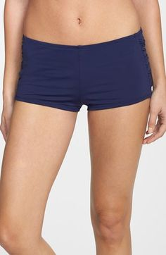 Tommy Bahama 'Pearl' Shirred Swim Shorts available at #Nordstrom