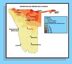Carte malaria Namibie