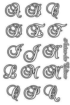 Imagem relacionada Alphabet Templates, Alphabet Art, Calligraphy Alphabet, Calligraphy Fonts, Alphabet And Numbers, Alphabet Code, Graffiti Lettering Fonts, Tattoo Lettering Fonts, Creative Lettering