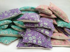 Lavender Bags with Liberty Fabric by misspinshop on Etsy