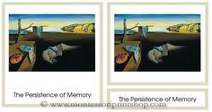 Salvador Dali Art Cards - 6 works of Salvador Dali in a 3-part art card series