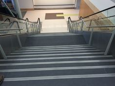 Exceptional Stair Treads In Black Slate Installed At The Victoria Airport In Victoria,  BC