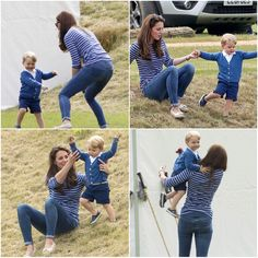 Prince George having a play at the polo, June 2015. He's so adorable!
