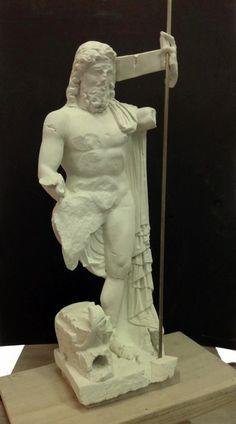 Kopie einer Original- Neptune Statur durch Präzisions-Scan und 3D-Druck für ein Museum