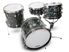 """George Way drum kit with 20x14-inch, 12x8-inch, 16x16-inch, with 14x5½-inch snare drum, exactly 50-years-old and in mouth-wateringly mint condition. Stamped """"3 October 1959"""""""