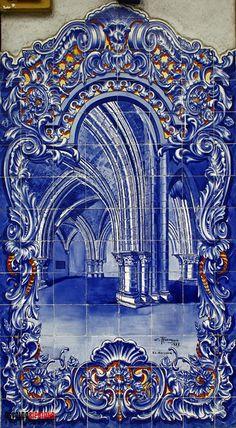 Santarém Mosaic Tiles, Wall Tiles, Portuguese Tiles, Blue Pottery, Blue Tiles, Art Drawings, Blue And White, Wallpaper, Gallery