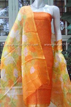 Block Printed Kota Silk Kurta and Dupatta Silk Suit, Suit Fabric, Kareena Kapoor Khan, Silk Dupatta, Indian Designer Wear, Indian Wear, Indian Outfits, Ready To Wear, Saree