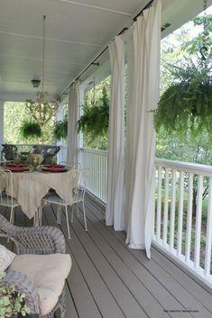 Grey Deck Paint, Porch Paint, Gray Deck, Patio Paint, Gray Paint, Wicker Porch Furniture, Wicker Dresser, Wicker Mirror, Wicker Shelf