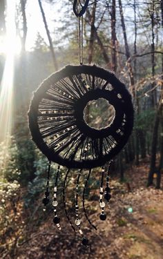 Your place to buy and sell all things handmade Old Wine Bottles, Recycled Wine Bottles, Wine Bottle Crafts, Clay Pot Crafts, Shell Crafts, Fun Crafts, Moon Dreamcatcher, Dreamcatchers, Dream Catcher Tutorial