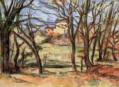 House behind Trees on the Road to Tholonet, 1887, Paul Cezanne Medium: oil on canvas
