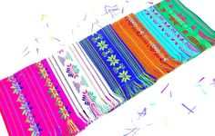 SUPER CUTE NAPKINS for your next Mexican fiesta or Mexican themed wedding, The sides edges are folded over and sewn. The end have fringes for a more traditional look. *This is a set of 6 napkins *Measurements: 14x20 Inches  *READY TO SHIP All items are sent via registered mail with a USPS tracking number. Thanks!  Great Banners For your Next Fiesta!!! https://www.etsy.com/listing/163799741/large-paper-day-of-the-dead-banners-16?ref=shop_home_active_40  Additional...