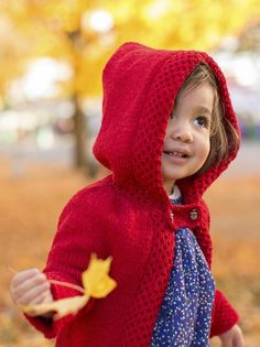 Halloween costume knitting patterns: Little Red riding Hood by Ysolda Teague
