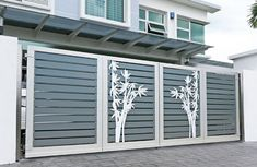 34 Amazing Steel Gate Design Ideas Match With Any Home Design - The purpose of home security gates is simple. They increase the level of security of the property and help to keep the family safe. They can enhance t. Home Gate Design, Gate Wall Design, Grill Gate Design, House Main Gates Design, Steel Gate Design, Front Gate Design, Door Design Interior, Main Door Design, House Design