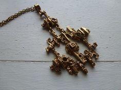 Vintage modernist necklace / Pentti Sarpaneva Finland