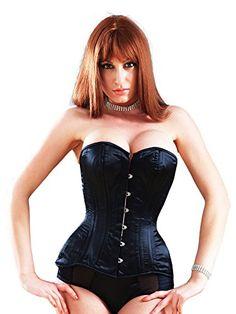 7fc6e55f282 Killer Corsets Women s overbust corset Victorian in Satin Black
