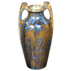 Pierrefonds Crystaline Vase Pierrefonds Pottery Offered by Frederick P Victoria and Son, Inc. Early Century French Art Nouveau Vases and Vessels Ceramic Pottery Vase, Ceramic Pottery, Art Nouveau, Art Deco, Flower Aesthetic, Porcelain Ceramics, Decorative Objects, Decoration, Cool Furniture