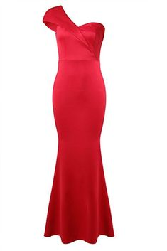 inc One Shoulder Party Gown Mermaid Evening Maxi Long Dress for Women Medium Red -- Details can be found by clicking on the image. (This is an affiliate link) Party Gowns, One Shoulder, Mermaid, Culture, Japan, Clothes For Women, Formal Dresses, Medium, Link