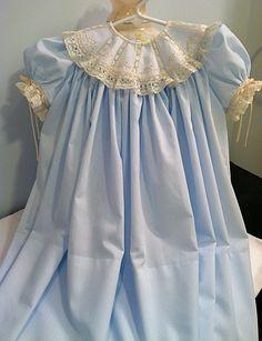 Jeanna Hanna - Mae's Blue Heirloom Collar Dress