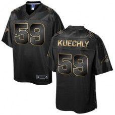 Men's Carolina Panthers Luke Kuechly Pro Line Black Gold Collection Jersey