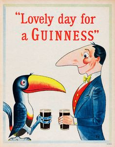 Vintage Advertising Posters, Old Advertisements, Vintage Posters, Retro Posters, Advertising Signs, Guinness, Vintage Labels, Vintage Ads, Vintage Food