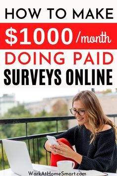 Learn how to make money doing surveys online. Grab this list of 10 of the best paid online survey sites to get you started. Best Paid Online Surveys, Best Online Survey Sites, Survey Websites, Get Paid Online, Survey Sites That Pay, Earn Money Online, Make Money Doing Surveys, Surveys That Pay Cash, Paid Surveys
