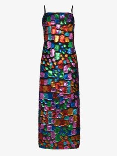 Taller Marmo Mahogany Metallic Patchwork Maxi Dress In Blue Designer Cocktail Dress, Cocktail Dresses, Rainbow Fashion, Boutique, Beautiful Outfits, Beautiful Clothes, World Of Fashion, Vintage Outfits, Floral Prints