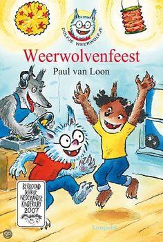 Dolfje Weerwolfje, Weerwolvenfeest, Paul van Loon. Er is een weerwolvenfeest op school! Timmie draagt een wolvenmasker van papier. Dolfje en Noura niet. Het is volle maan. Zij hebben geen masker nodig. Het feest is vol dansende vampieren en weerwolven. En volgens meester Frankula gaan Dolfje en Noura de wedstrijd winnen. Maar dan gaat het mis. Alle maskers moeten af... Bekroond door de Nederlandse Kinderjury. Dit boek is een kerntitel van de kinderboekenweek voor groep 5 & 6. € 12,99