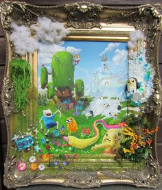 , framed by wickedspaceant on DeviantArt Adventure Time, Paintings, Deviantart, Canvas, Frame, Artist, Tela, Picture Frame, Paint