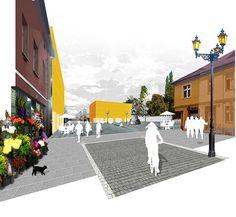 New Masterplan for Leśnica, Wrocław, Collage - Marcin Szewczyk.  I like how simple this image is!