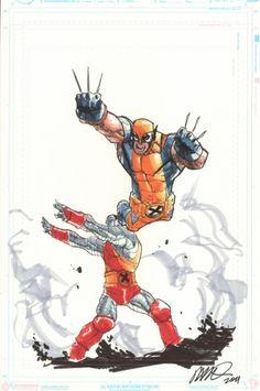 Wolverine & Colossus - Humberto Ramos Comic Art