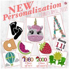 New Thirty-One Spring/Summer personalization. Coming April 2018!! Icon-It graphic for Facebook VIP group or party. www.mythirtyone.ca/sabrinawhite
