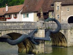 Saint-Ursanne dragon bridge