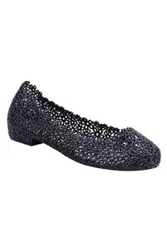 Black Lace Jelly Shoes