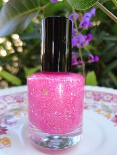 Bubble Gum CustomBlended Nail Polish Glitter by parissparkles -- this looks fun for toes