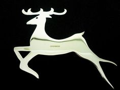 Silver Dasher Reindeer Xmas Tree Decoration, Sterling, Christmas, Hallmarked